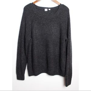 GAP Size Large Charcoal Gray Knit Pullover Sweater